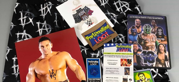Pro Wrestling Loot November 2017 Subscription Box Review + Coupon