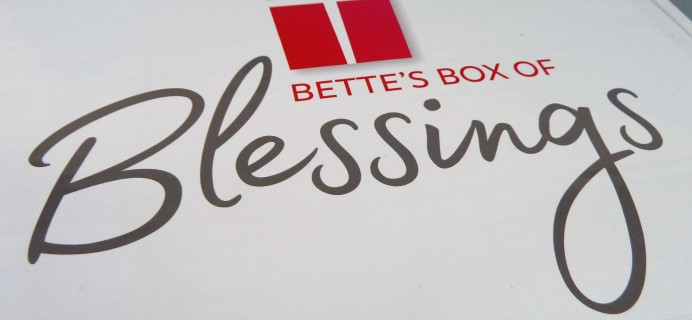 Bette's Box of Blessings Subscription Box Review + Coupon – November 2017
