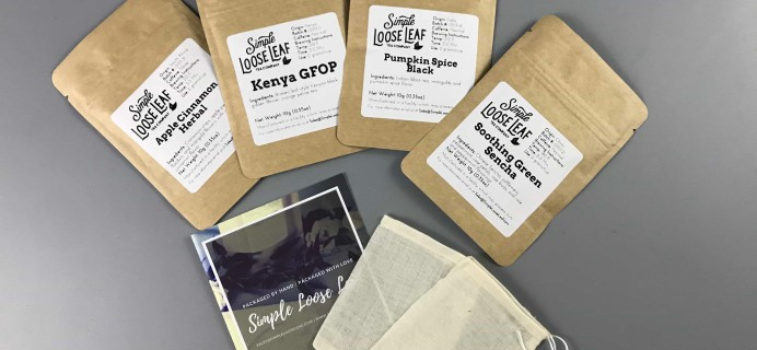 Simple Loose Leaf Tea November 2017 Subscription Box Review