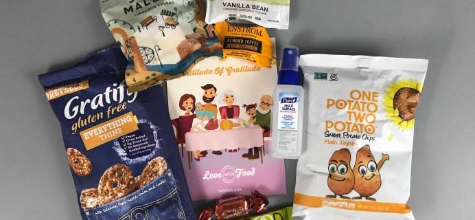 Love With Food November 2017 Tasting Box Review + Coupon!