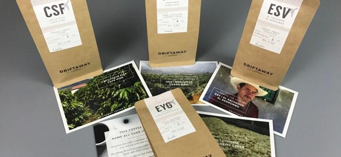 Driftaway Coffee November 2017 Subscription Box Review