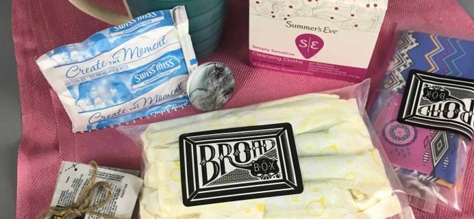 Broad Box Subscription Box Review + Coupon – November 2017