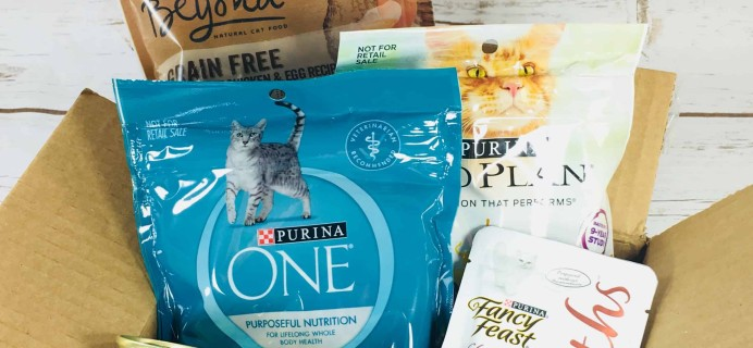 Amazon Prime Purina Cat Food Sample Box Review