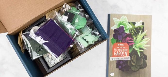 Doodle Crate October 2017 Subscription Box Review & Coupon – FELT SUCCULENT GARDEN!