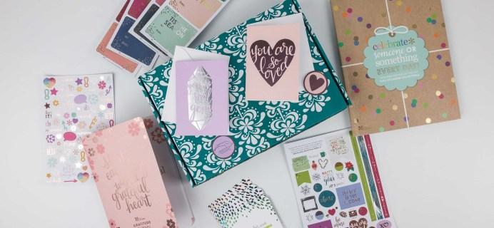 Erin Condren Seasonal Surprise Box Winter 2017 Subscription Box Review
