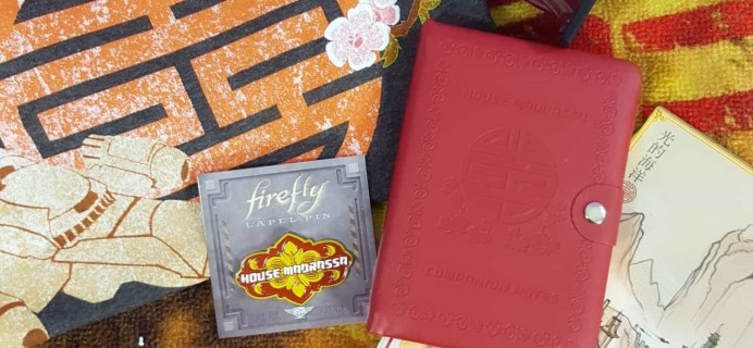 Firefly Cargo Crate September/October 2017 Review + Coupon