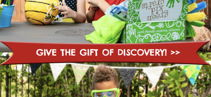 Green Kid Crafts Black Friday Coupon: 70% Off First Box + 50% Off Shop!