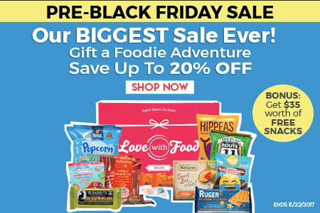 Love With Food 2017 Pre-Black Friday Deal: Up to 20% Off Subscriptions + Bonus Points!