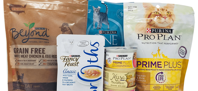 New Amazon Prime FREE After Credit Purina Cat Food Sample Box!