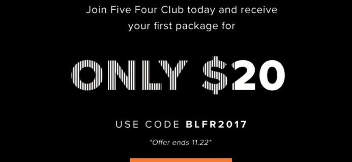 Five Four Club Black Friday Deal: First Month $20 – Save $40!