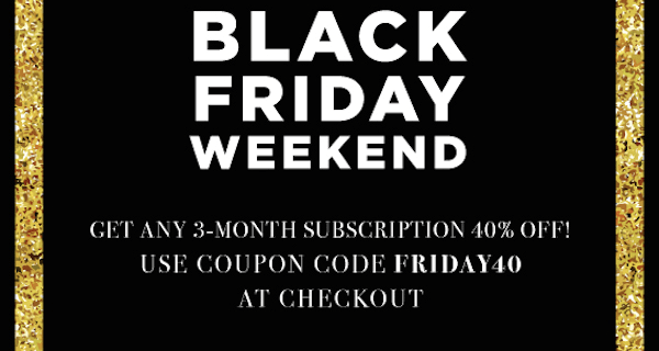 The GiftBox Family Black Friday Sale: Save 40% On 3-Month Subscriptions!