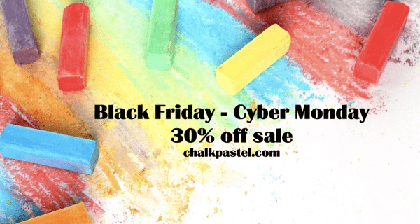 You Are An Artist Chalk Pastel Video Art Lessons Cyber Monday Deal – Save 30%!