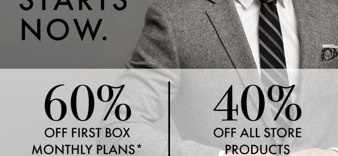 SprezzaBox Black Friday Deal: 60% Off First Month + 40% Off Sale!