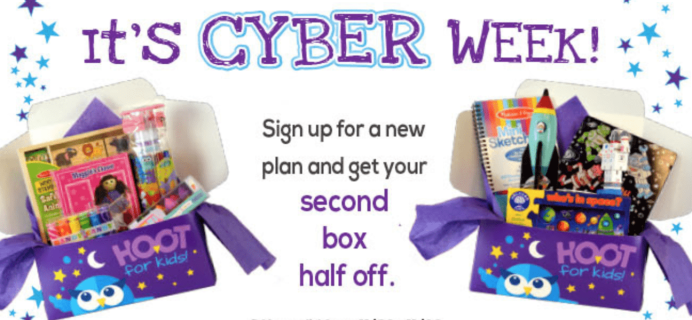 Hoot For Kids Cyber Monday Kids Subscription Deal: 50% Off Your Second Box!