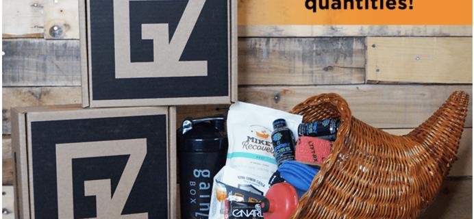 Gainz Box Black Friday Deal: FREE Bonus Box With First Month!