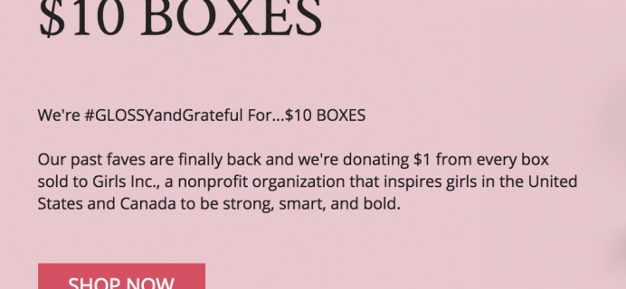 GLOSSYBOX $10 Mystery Boxes – Restocked & Last Chance!