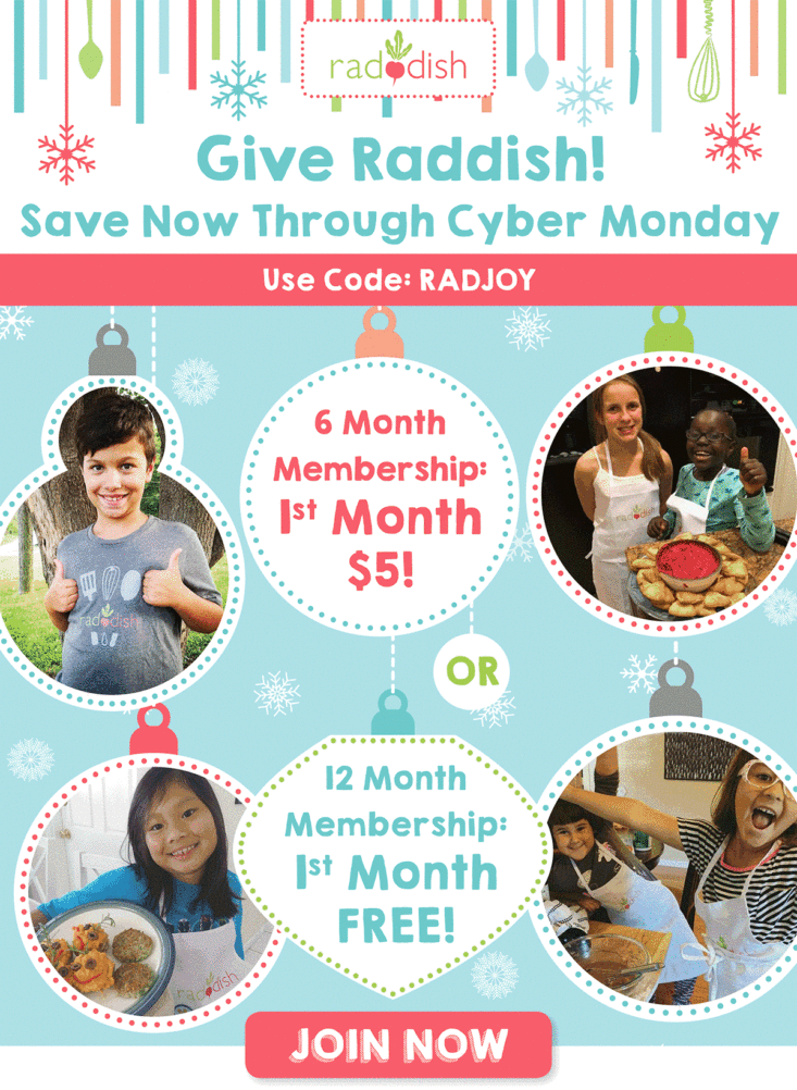 Raddish Kids Cyber Monday Coupon - First Month Free With ...