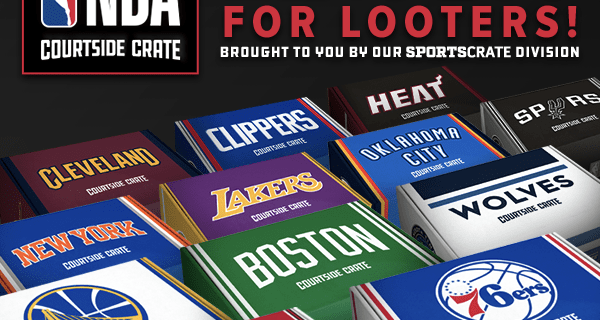 Sports Crate NBA Courtside Crate Cyber Monday 2017 Coupon: Save 10%!