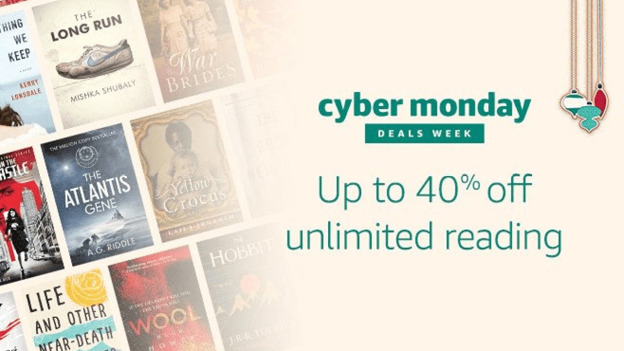 Amazon Kindle Unlimited Cyber Monday Deal Get 40 Off Hello Subscription