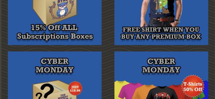 Nerdy Byrd Cyber Monday Sale!