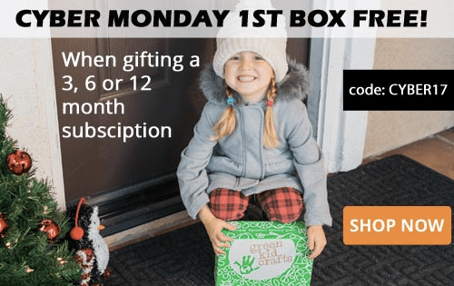 Green Kid Crafts Cyber Monday Deal: First Box FREE with 3+ Month Subscription!