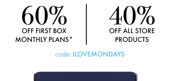 EXTENDED! SprezzaBox Cyber Monday Deal: 60% Off First Month + 40% Off Sale!