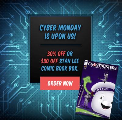 The Stan Lee Comicbook Box Cyber Monday Sale!