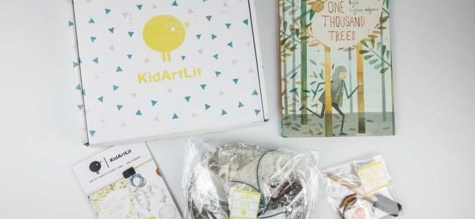 KidArtLit November 2017 Subscription Box Review + Coupon!