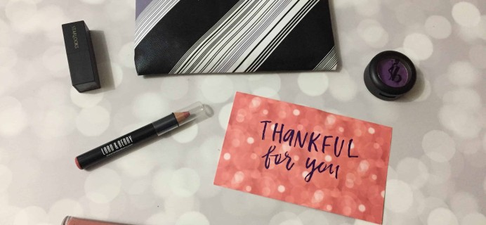 Lip Monthly November 2017 Subscription Box Review & Coupon