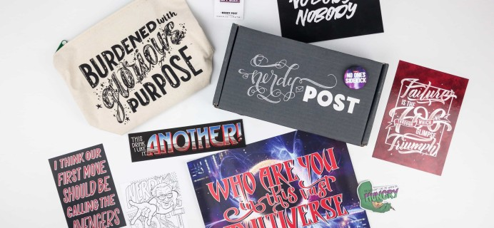 Nerdy Post November 2017 Subscription Box Review + Coupon