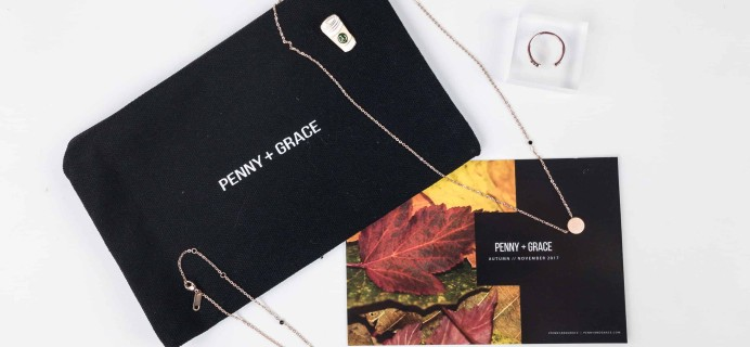 Penny + Grace November 2017 Subscription Box Review + 50% Off Coupon