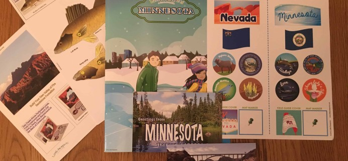 January 2018 Little Passports USA Subscription Box Review + Coupon – Minnesota and Nevada