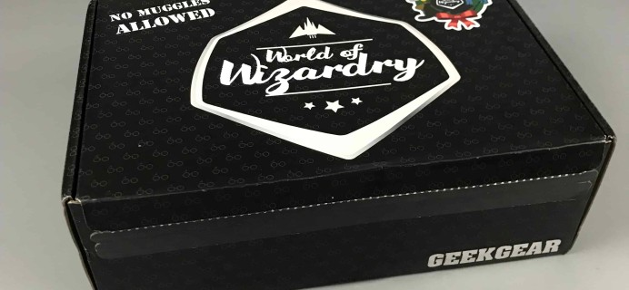 Geek Gear World of Wizardry  November 2017 Subscription Box Review
