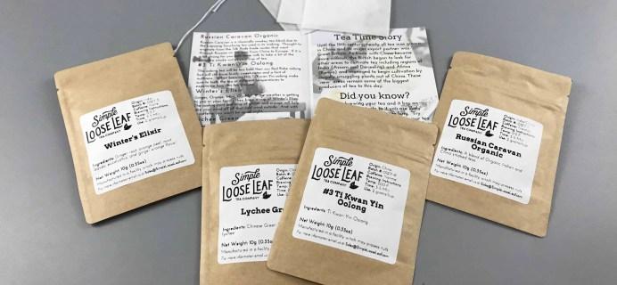 Simple Loose Leaf Tea December 2017 Subscription Box Review
