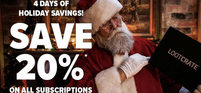 Loot Crate Holiday Sale – 20% Off ALL Subscriptions ENDS TODAY!