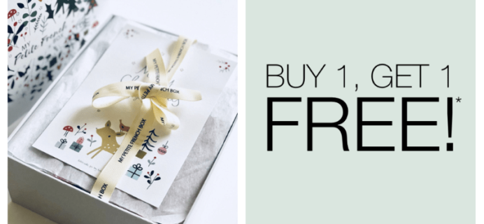 My Petite French Box Coupon: Buy One Get 1 FREE!