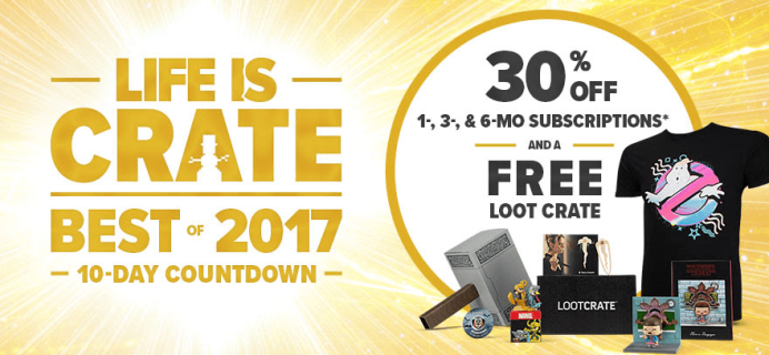 Loot Crate Holiday Sale – 30% Off 3+ Month Subscriptions + Free Crate!