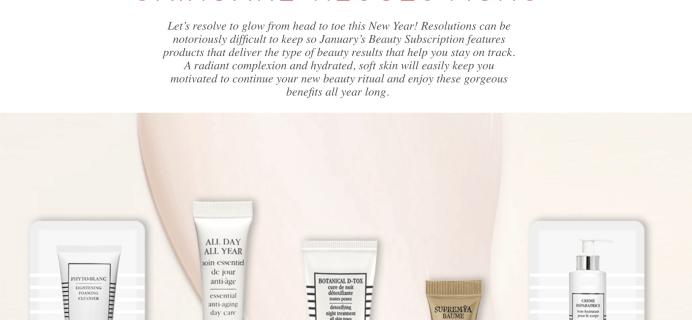 Sisley Paris Beauty Box January 2018 Full Spoilers