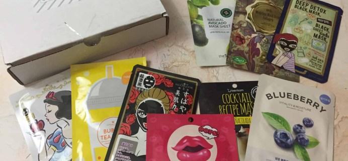 Beauteque Mask Maven December 2017 Subscription Box Review + Coupon
