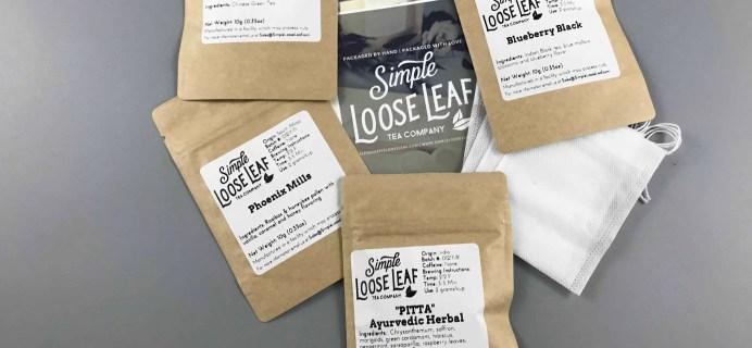 Simple Loose Leaf Tea January 2018 Subscription Box Review
