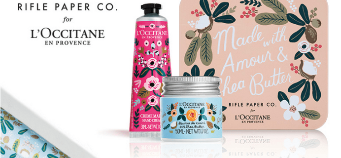FREE L'Occitane Rifle Paper Co Gift Set ($20 Value) with ANY Purchase !