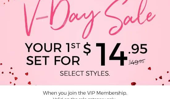 Adore Me V-Day Sale : Get Your First Set for $14.95!