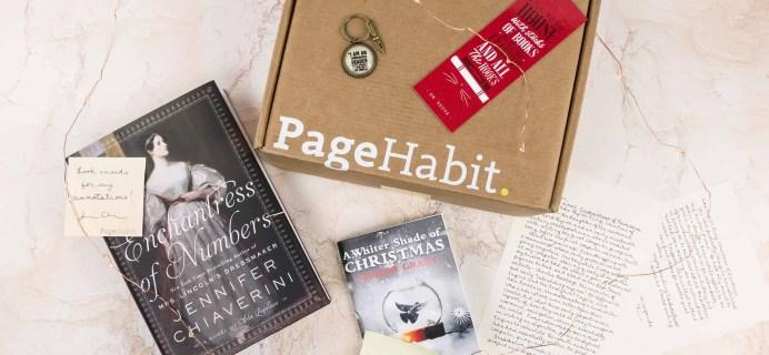 PageHabit December 2017 Subscription Box Review + Coupon – Historical Fiction