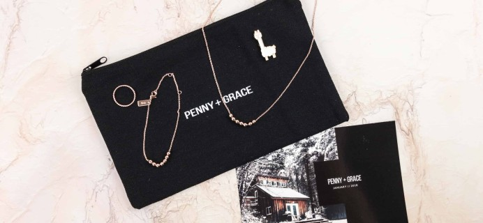 Penny + Grace January 2018 Subscription Box Review