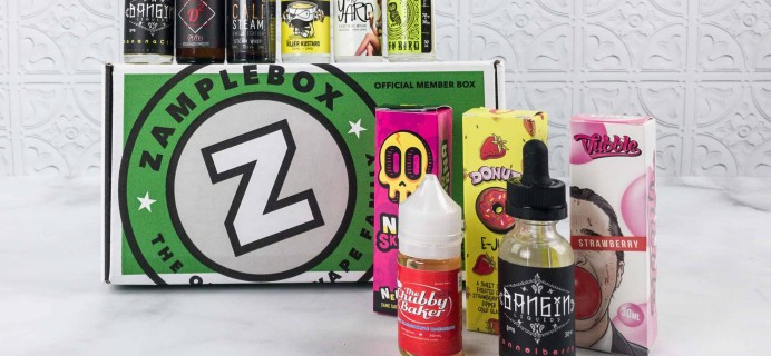 Zamplebox E-Juice January 2018 Subscription Box Review + Coupon!
