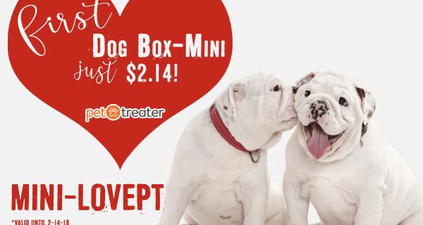 Pet Treater Dog Box Mini – First Box $2.14!
