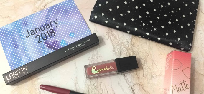 Lip Monthly January 2018 Subscription Box Review & Coupon