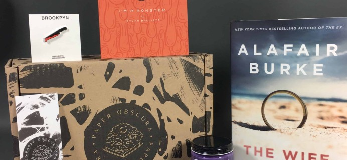 Paper Obscura February 2018 Subscription Box Review + Coupon!