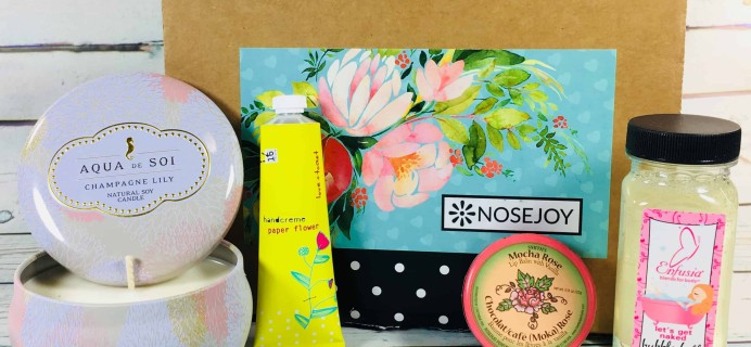 NOSEJOY February 2018 Subscription Box Review + Coupon!