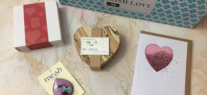 Sealed with Irish Love Box February 2018 Subscription Box Review